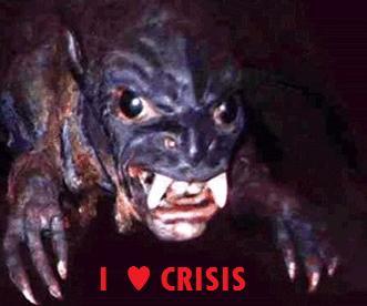 El Chupacabras José, la mascota de la crisis. Ya te sientes más seguro, ¿no?