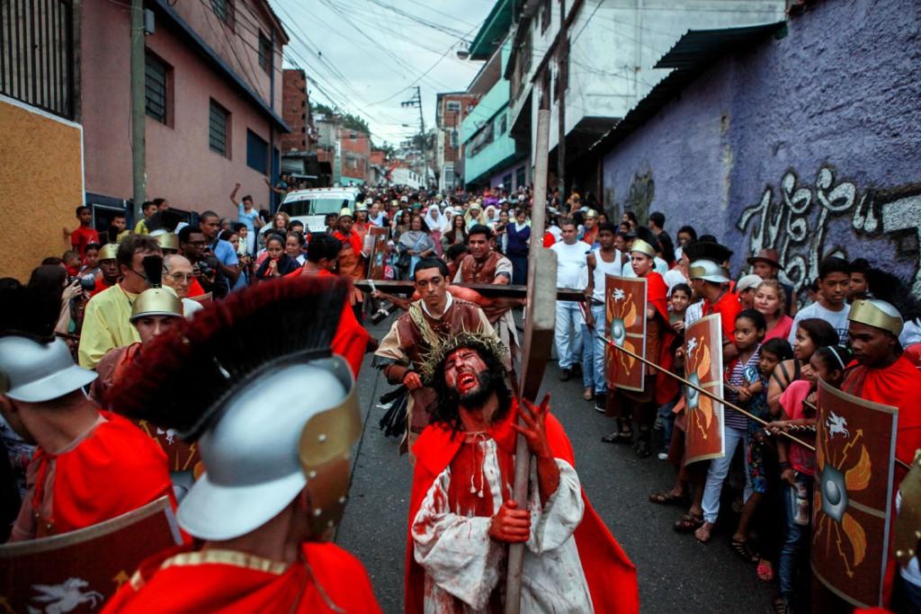 Semana Santa en Petare, Caracas. 2014. - Federico Parra/AFP.